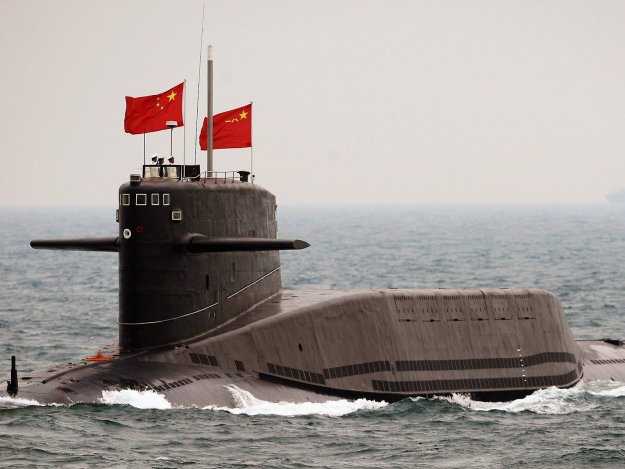 An undated photo of a Jin-class Type 94 nuclear ballistic missile submarine (SSBN). PLAN Photo