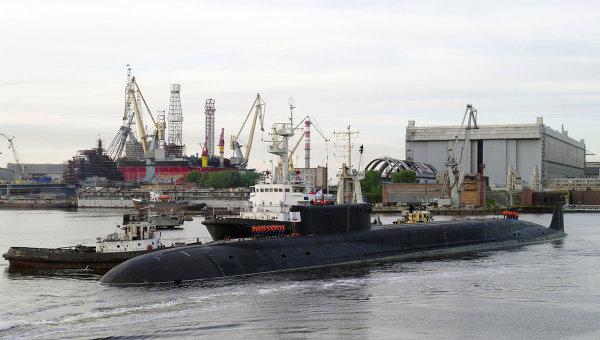 Russian Borey Class nuclear ballistic missile submarine