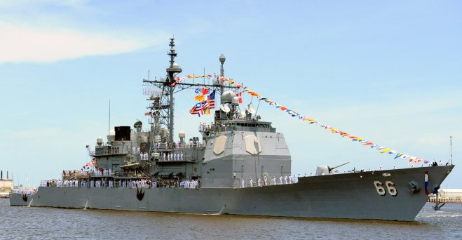 Updated: Engine Fire Breaks Out On U.S. Navy Cruiser, Ship Returns to Homeport