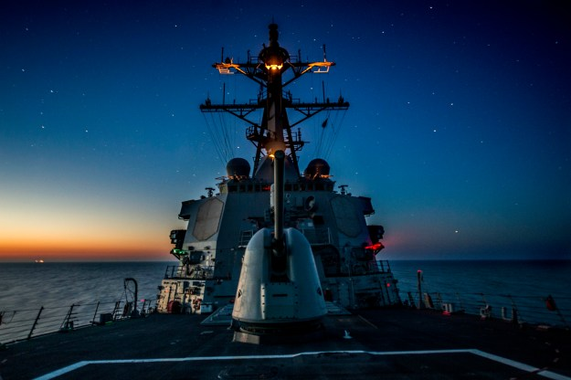 USS Donald Cook (DDG-75) transits the Black Sea on April 21, 2014. US Navy Photo