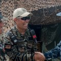 U.S. Navy and Philippine military officials during the humanitarian aid and disaster relief operation in Tacloban in 2013. US Navy Photo