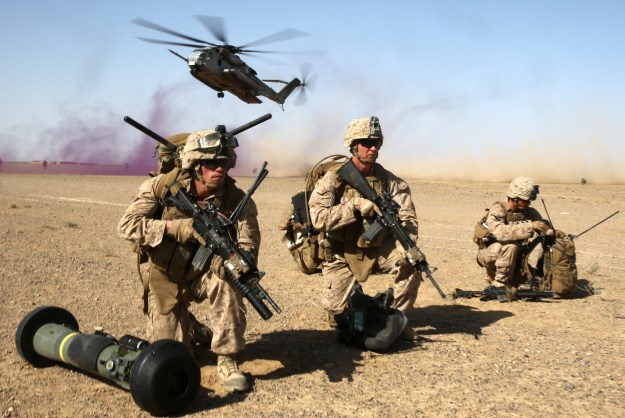 US Marines during a mission in Helmand province, Afghanistan, April 28, 2014. US Marine Corps Photo