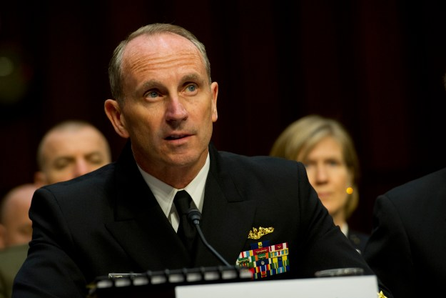 Adm. Jonathan Greenert testifies before the Senate Armed Services Committee on May 6, 2014. US Navy Photo