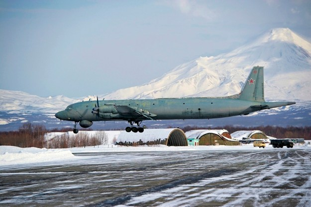 An April 2014 photo of a Russian Ilyushin Il-38 Anti-Submarine Warfare (ASW) aircraft. The U.S. denied reports a similar aircraft chased off a U.S. Virginia-class submarine from the Barents Sea.