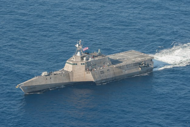 USS Coronado (LCS-4) underway in the Pacific Ocean on April 23, 2014. US Navy Photo
