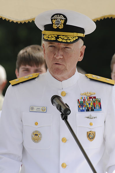 Rear Adm. James G. Foggo III in 2011 when he was 6th Fleet deputy commander. US Navy Photo
