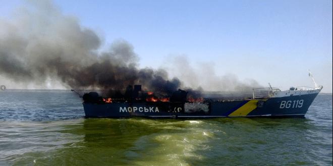 Two Ukrainian Patrol Boats Shelled by Artillery, One Sunk