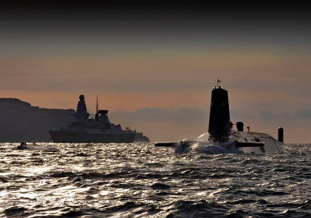HMS Vanguard arrives back at HM Naval Base Clyde following a nuclear deterrence patrol. U.K. Royal Navy Photo