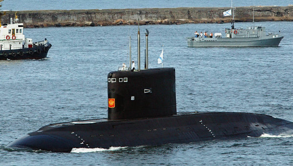 Improved Kilo-class (Varshavyanka-class) attack submarine. RIA Novosti Photo