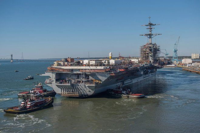 Video: Carrier USS Abraham Lincoln Leaves Dry Dock