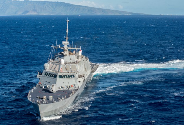 USS Fort Worth (LCS-3) on Nov. 25, 2014. US Navy Photo