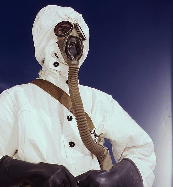 Chemical Warfareman in protective gear, 1942