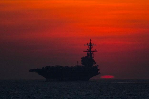 USS George H.W. Bush (CVN-77) transits the Gulf of Aden in 2014. US Navy Photo