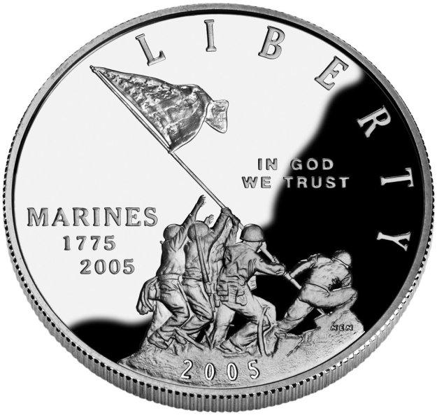 Marine Corps 230th Anniversary Silver Dollar - 2005