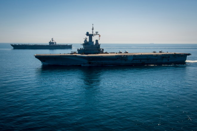 French Carrier Charles de Gaulle Bound for India After Two Months of Strikes Against ISIS