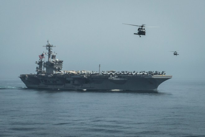 Roosevelt Strike Group Departs Gulf, 9 U.S. Warships Now Near Yemen