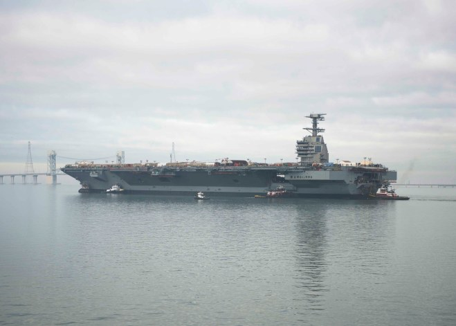 Navy Has Begun EMALS Testing on Carrier Ford