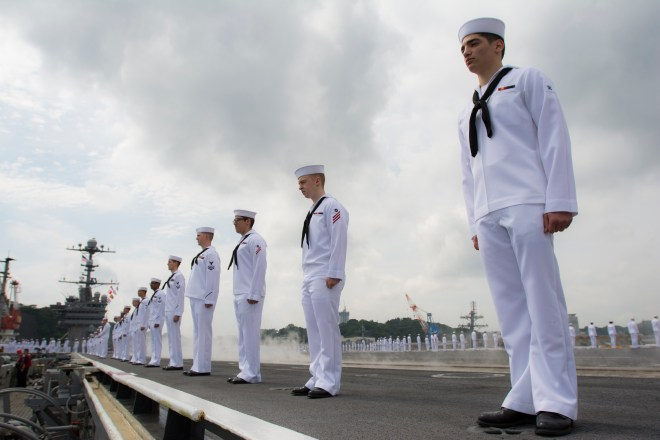 Carrier George Washington Leaves Japan for the Last Time as Forward Deployed CVN