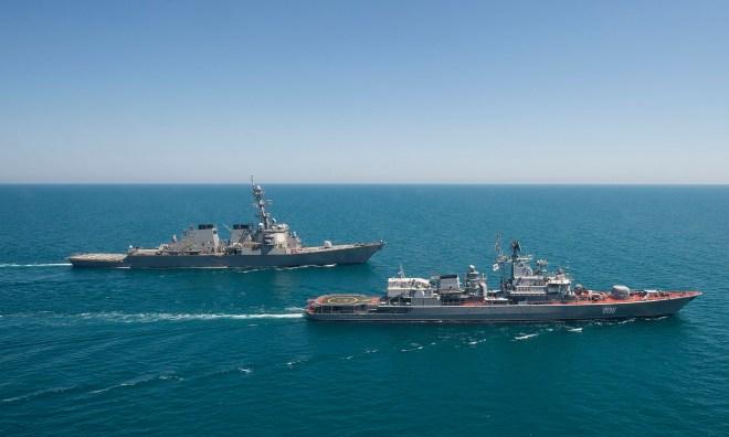 USS Ross Leaves Black Sea