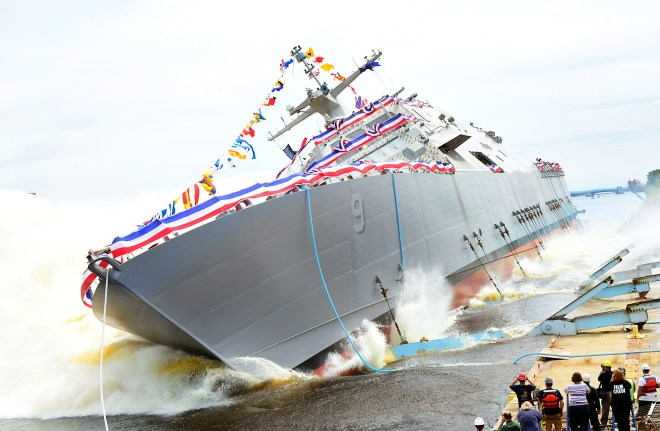 Video: Lockheed Martin Launches Littoral Combat Ship Little Rock