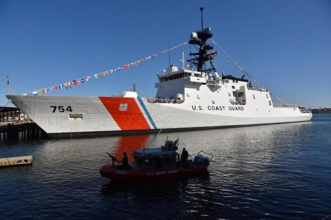 Coast Guard Commissions National Security Cutter James in Boston