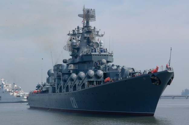 Russian Warships in Eastern Mediterranean to Protect Russian Strike Fighters in Syria