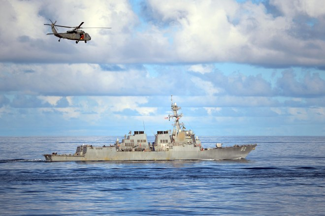 U.S. Destroyer Comes Within 12 Nautical Miles of Chinese South China Sea Artificial Island, Beijing Threatens Response