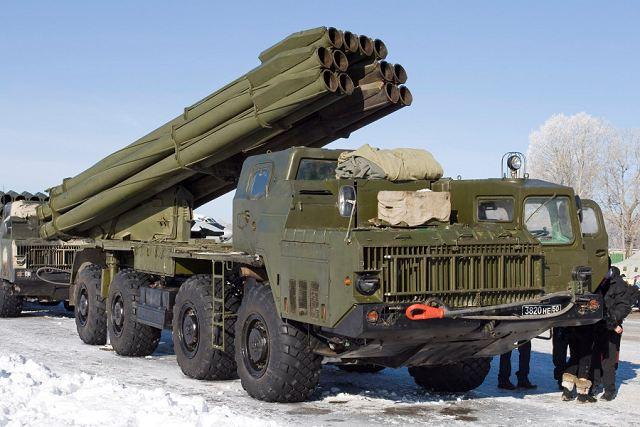 "BM-30 Smerch ""Whirlwind"" multiple rocket launcher (Russia)"