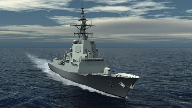An artist's conception of the Hobart-class guided missile destroyer