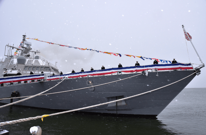 Video: Littoral Combat Ship USS Milwaukee Commissions
