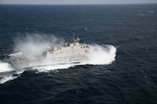 USS Milwaukee (LCS-5) during acceptance trails. Lockheed Martin Photo
