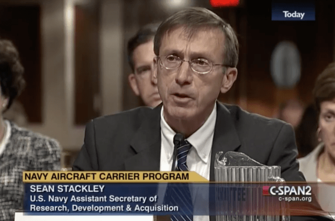 Sean Stackley Asks Congress for More Department of Navy Flexibility in Acquisition