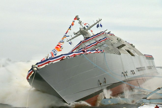 Video: Littoral Combat Ship Sioux City Launches