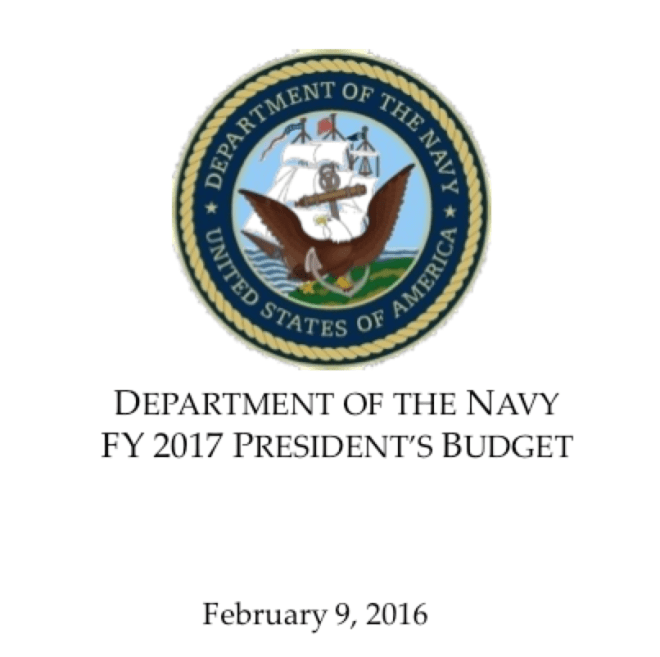 Document: Fiscal Year 2017 Department of the Navy Budget Slides