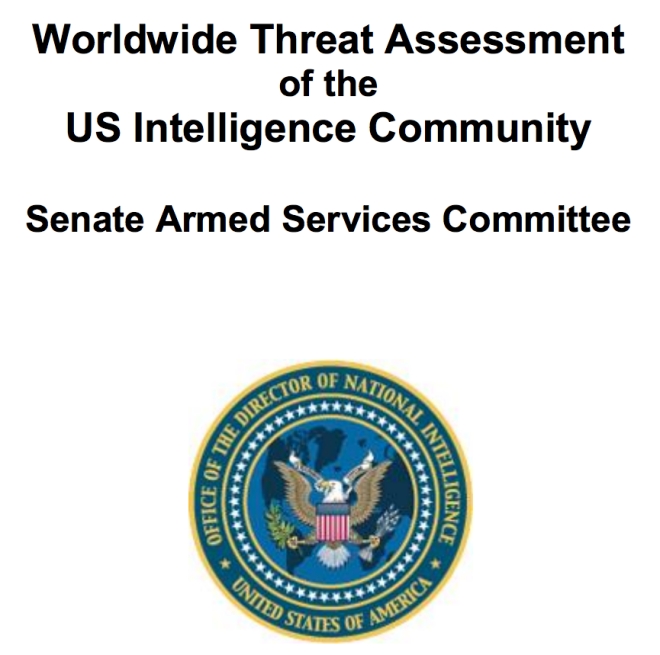 Document: Worldwide Threat Assessment of the U.S. Intelligence Community