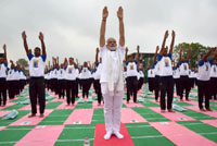 Yoga Day: From Kashmir to Kerala, people do asanas in tandem with PM