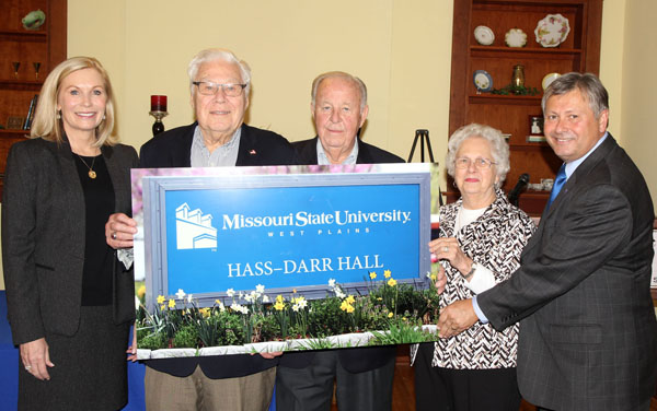 Mary Hass Sheid, William R. Hass, William and Virginia Darr and Chancellor Drew Bennett