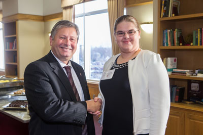 Chancellor Bennett and Nadia Pshonyak