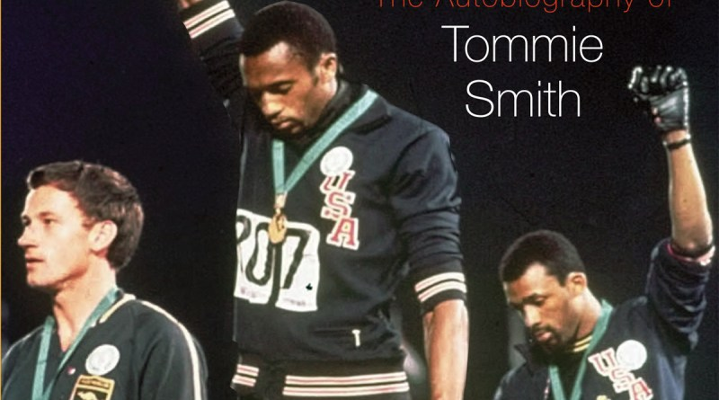 Tommie Smith (center) and John Carlos (right) unify at the 1968 Olympics./Photo courtesy of Tommie Smith