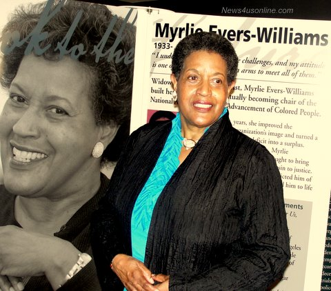 Myrlie Evers-Williams is a Freedom's Sisters honoree in new exhibit at the Museum of Tolerance./Photo/Dennis J. Freeman