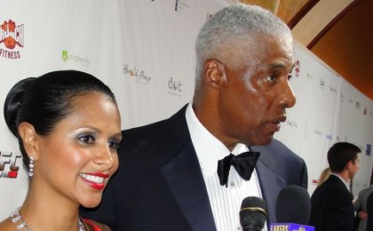 Julius (Dr. J) Erving, walking the red carpet with wife, Dorys, was among the honorees at the 12th Annual Harold Pump Foundation. Photo Credit: Dennis J. Freeman