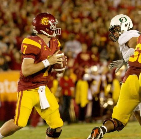 USC and quarterback Matt Barkley are hoping they can redeem themselves against Oregon, after going down in defeat to Arizona. Photo courtesy of Mac Alexander