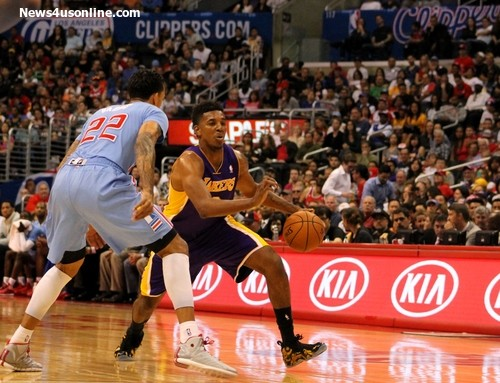 Nick Young may not be wearing the purple and gold uniform for the Lakers next season. Photo by Dennis J. Freeman