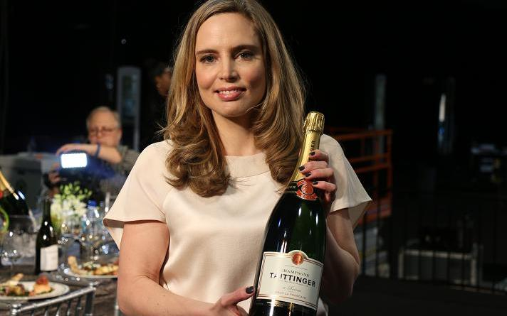 Vitalie Tallinger, Champagne Tattinger Spokesperson and Artistic Director (She's Opening the Red Carpet with a toast)