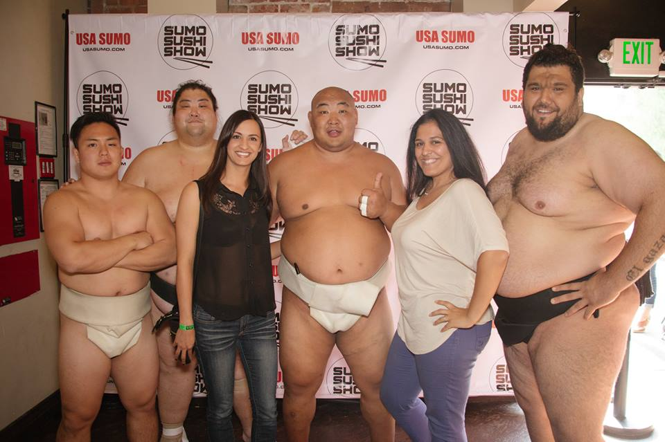Sumo wrestling and sushi in LA