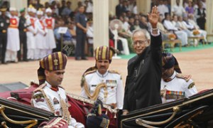 Pranab Mukherjee starts new innings as President