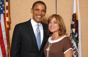 Loretta Sanchez and Barack Obama