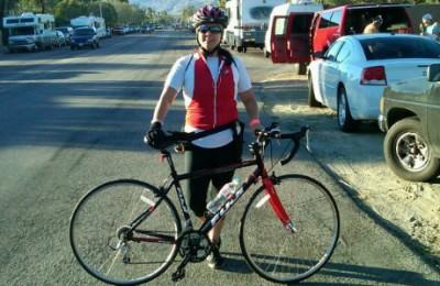 Michele Martinez and her bike