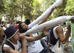 Smoking big joints in Santa Ana