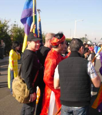 Jeff LeTourneau and gay activists at the Tet Parade